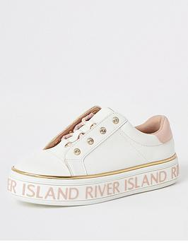 river-island-girls-lace-up-flatform-trainers--nbspwhite