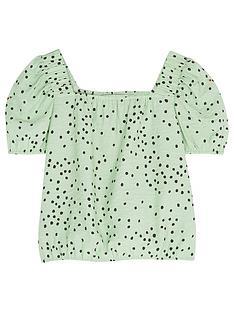 mintie-by-mint-velvet-girls-lila-green-spot-top-green