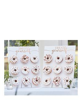 ginger-ray-rose-gold-double-donut-wall-birthday-cake-alternative