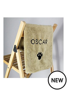 personalised-super-absorbant-pet-towel
