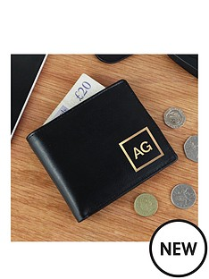 personalised-gold-initals-black-leather-wallet