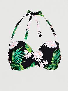 v-by-very-shapewear-bandeau-underwired-bikini-top-tropical-print
