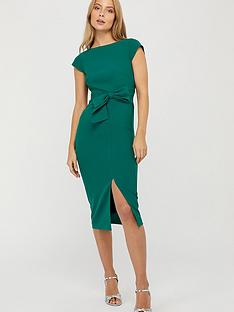 monsoon-tilda-recycled-polyester-bow-shift-dress-green