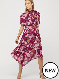 monsoon-frances-print-lurex-spot-hanky-hem-dress-berry