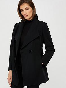 monsoon-rita-wrap-collar-short-coat-black
