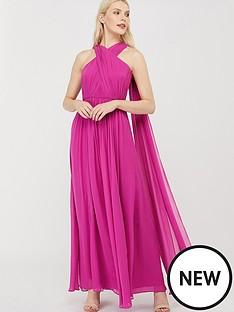 monsoon-maura-cross-neck-cape-maxi-dress-pink