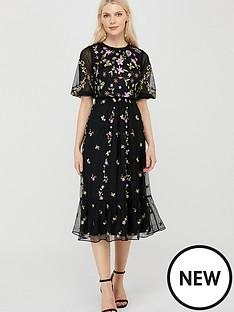 monsoon-emma-embroidered-polyester-midi-dress-black