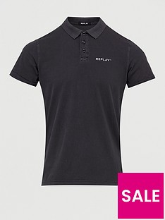 replay-jersey-polo-shirt-black