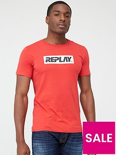 replay-block-logo-short-sleeve-t-shirt-ndash-red