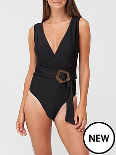 v-by-very-shapewear-belted-wrap-swimsuit-black