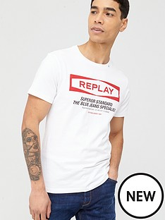 replay-superior-standard-logo-t-shirt-white