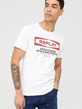 replay-superior-standard-logo-t-shirt-white