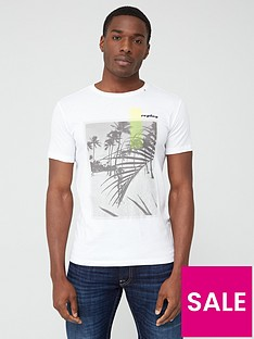 replay-beach-print-short-sleeve-t-shirt-ndash-white