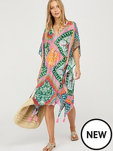 monsoon-pooja-printed-sustainable-viscose-kaftan-multi