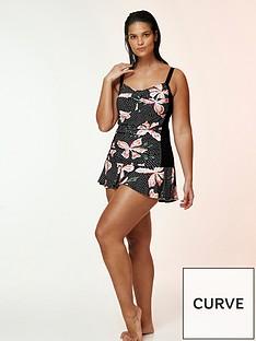 evans-hibiscus-floral-print-tankini-top-black