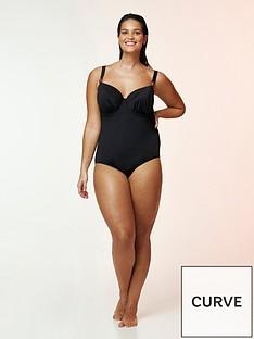 evans-black-wired-plunge-swimsuit