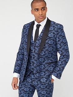 skopes-tailored-morrissey-floral-jacquard-jacket-navy
