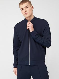 river-island-navy-textured-slim-fit-bomber-jacket