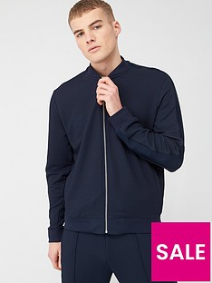 river-island-textured-slim-fit-bomber-jacket-navy