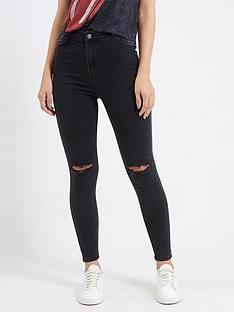 topshop-topshop-34-ripped-joni-jeans-washed-black