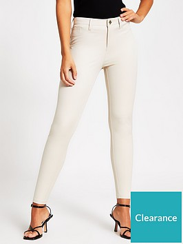 river-island-molly-mid-rise-skinny-trousers-cream