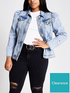 ri-plus-puff-sleeve-denim-jacket-blue