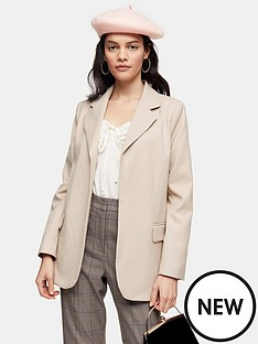 topshop-topshop-double-faced-blazer-beige
