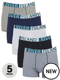 river-island-logo-5-pack-trunks-green