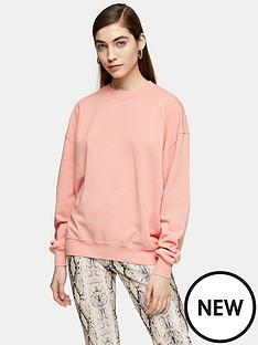 topshop-topshop-stonewash-sweatshirt-dusky-pink