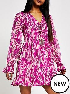 ri-petite-ri-petite-printed-mini-smock-dress-pink
