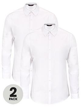 very-man-2-pack-long-sleeved-easycare-shirt