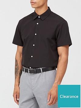 very-man-short-sleeved-easycare-shirt-black