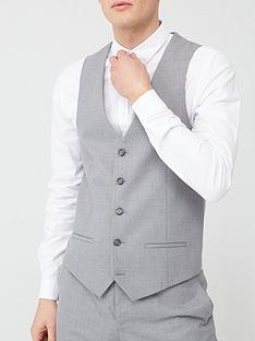 river-island-textured-suit-waistcoat-greynbsp
