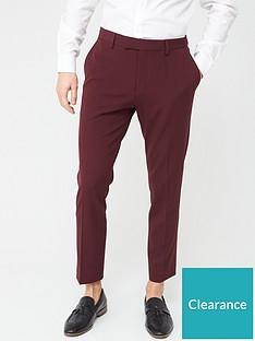 river-island-stretch-skinny-suit-trousers-dark-rednbsp