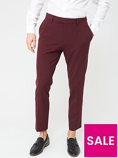 river-island-stretch-skinny-suit-trousers-dark-rednbsp