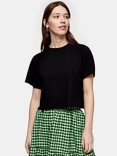 topshop-raglan-crop-t--shirt-black