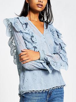 river-island-v-neck-frill-detail-blouse-blue