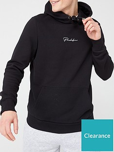 river-island-prolific-black-slim-fit-hoodie