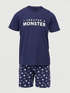v-by-very-fathers-daynbspmonster-mini-me-pyjamas-navy