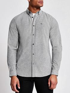 river-island-long-sleeve-slim-fit-oxford-shirt-greynbsp
