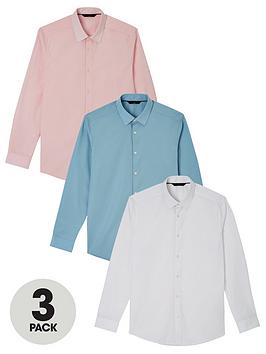 very-man-3-pack-long-sleeved-easycare-shirts-multi