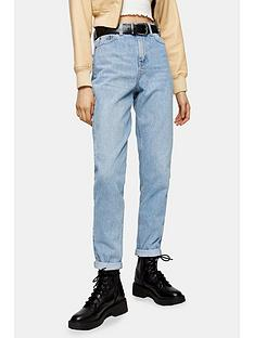 topshop-tapered-mom-jeansnbsp--bleached-blue