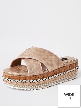 river-island-wide-fit-cross-strap-flatform-sandals-rose-gold