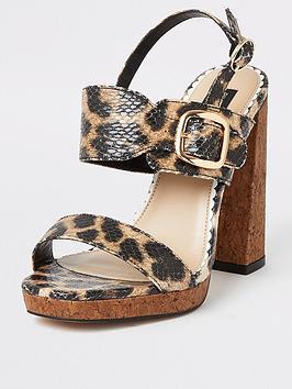 river-island-wide-fit-animal-print-cork-heel-platform-sandals-brown