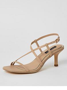 river-island-strappy-beaded-edge-low-heel-sandal-beige