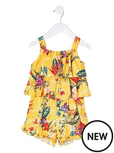 river-island-mini-mini-girls-printed-frill-playsuit-yellow