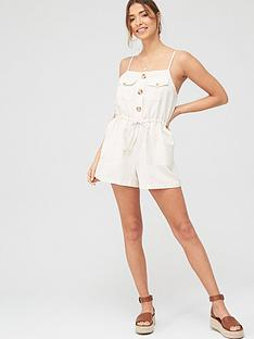 river-island-river-island-utility-button-front-beach-playsuit
