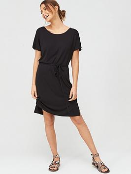 v-by-very-short-sleeve-jersey-beach-dress-black