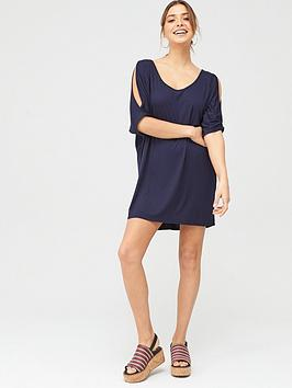 v-by-very-beach-cold-shoulder-jersey-top-navynbsp
