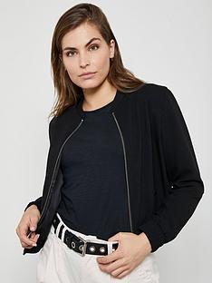 mint-velvet-textured-bomber-jacket-black